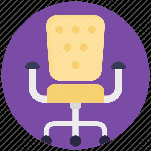 boss chair, chair, mesh chair, revolving chair, swivel chair icon