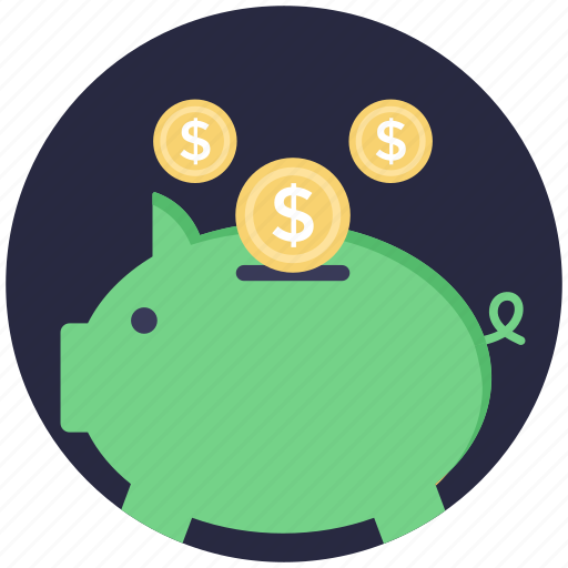insurance concept, piggy bank, piggy coins, piggy money box, saving icon