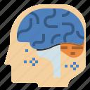 brain, education, learning, neurology, neurotransmitter, think icon