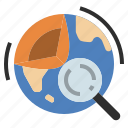earth, fossil, fuels, geology, rock, science, study icon