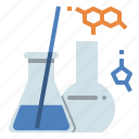 chemical, chemistry, cosmetics, laboratory, molecules, reaction, science icon