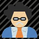 avatar, doctor, oldman, professor, scientist, teacher icon