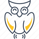 education, owl, science, study icon