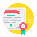 achievement, approve, approved, award, certificate, license icon
