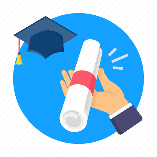 college, degree, diploma, education, hat, study, univercity icon