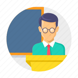 classroom, lacture, presentation, school, speech, teaching icon