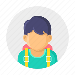 bag, boy, kid, school, school time, student icon