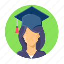 school, learning, study, college, student, education, hat icon