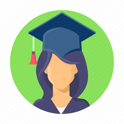 college, education, hat, learning, school, student, study icon
