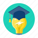 bulb, education, idea, knowledge, study icon