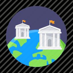 college, distance education, education, global, international, school, university icon