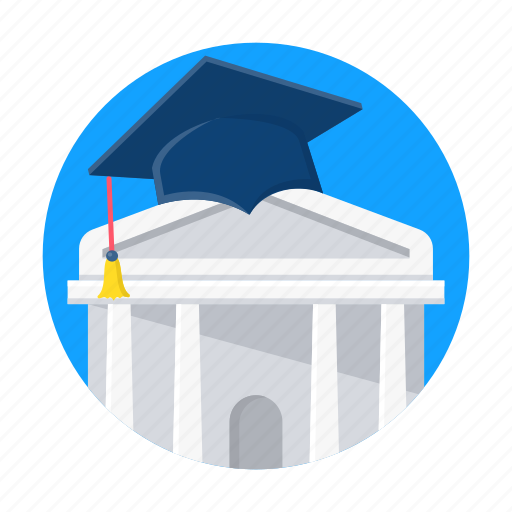 building, college, education, learning, school, university icon