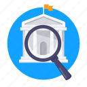 search, university, school, institution, education, find icon