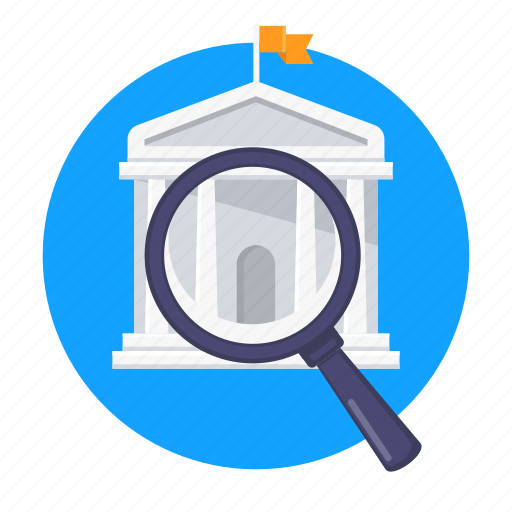 education, find, institution, school, search, university icon