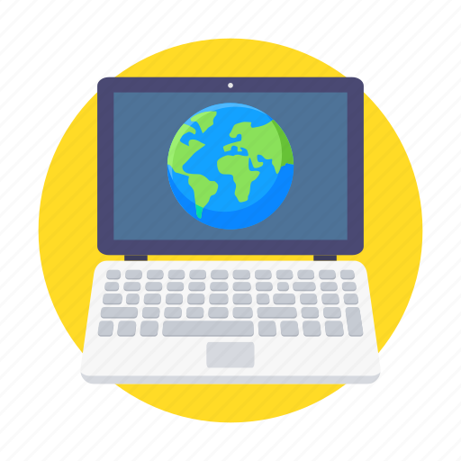 browser, laptop, learing, online, study, website icon