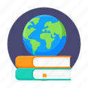 books, education, global, global knowledge, international, reading, study icon