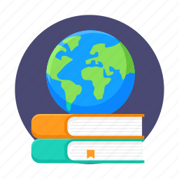 books, education, global, global knowledge, international, reading, study icon