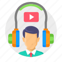 audio book, education, learn, learning, online, tutorial, video icon