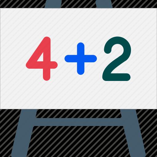 basic maths, calculation, education, learning, math sum, maths, multiplication icon