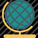 desk globe, desktop globe, geography, globe, office supplies, table globe, world map icon
