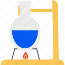 conical flask, erlenmeyer flask, flask, lab equipment, lab research, lab test, laboratory experiment icon