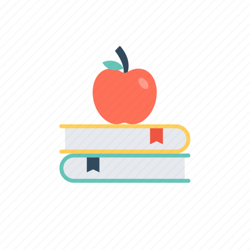 books and learning, food and learning, healthy knowledge, importance of healthy knowledge., knowledge with healthy food icon