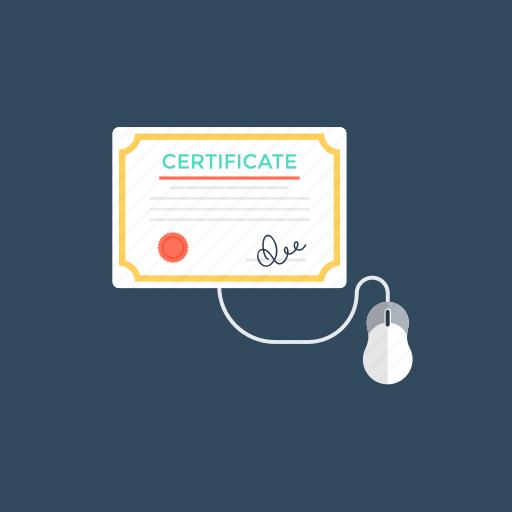 importance of online degree programs, online certification, online degree programs, online education, web based degree programs. icon