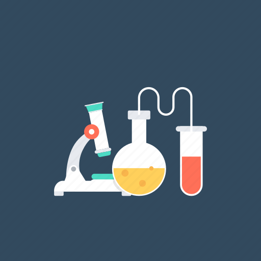 chemistry practicals, observation and analysis., research and conclusion, research practicals, school practical icon