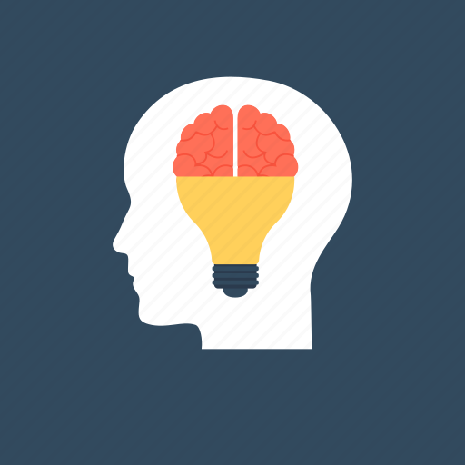 brain processing., brain training, cognitive skills, cognitive training, thinking and knowledge icon
