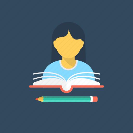 develop insight, learn, prepare, read, study icon