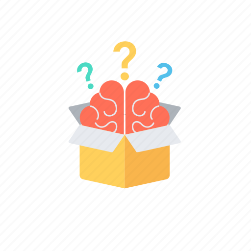 brain and ideas., creative ideas in brain, creative thinking, logical thinking, think out of the box icon