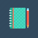 copy, notebook, notepad, stationery., writing pad icon