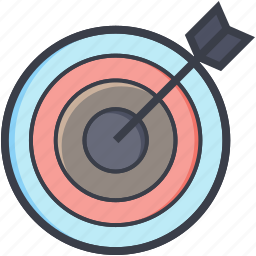 aiming, challenge, dart board target, dartboard, game, target, throw icon