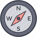 compass, compass watch, navigational, speedometer icon
