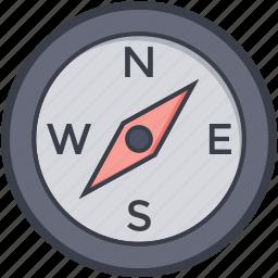 compass, compass watch, navigational, speedometer icon