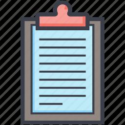 clipboard, data, list, record, report icon