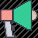 aler, announcement, bullhorn, loudspeaker, megahorn icon