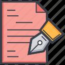 paper, pen, sheet, signature, writing