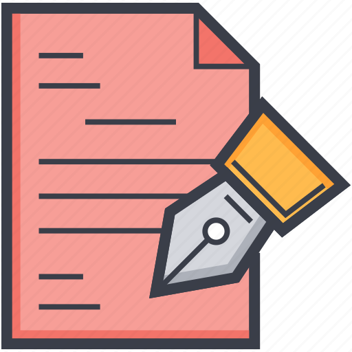 paper, pen, sheet, signature, writing icon