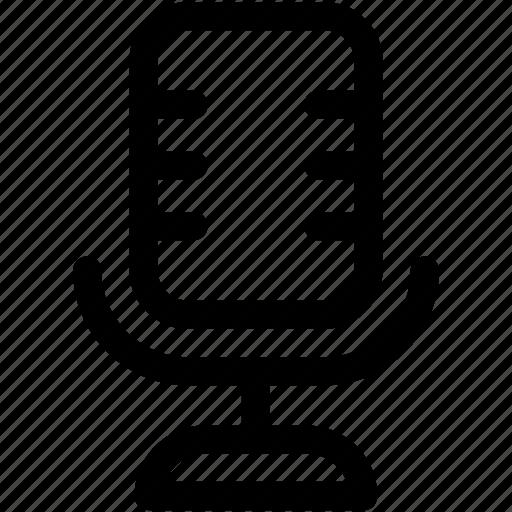 audio, mic, microphone, music, radio mic icon