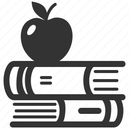 apple, education, library, literature, school books icon