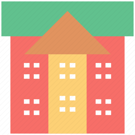 building, college, real estate, school, school building, university icon