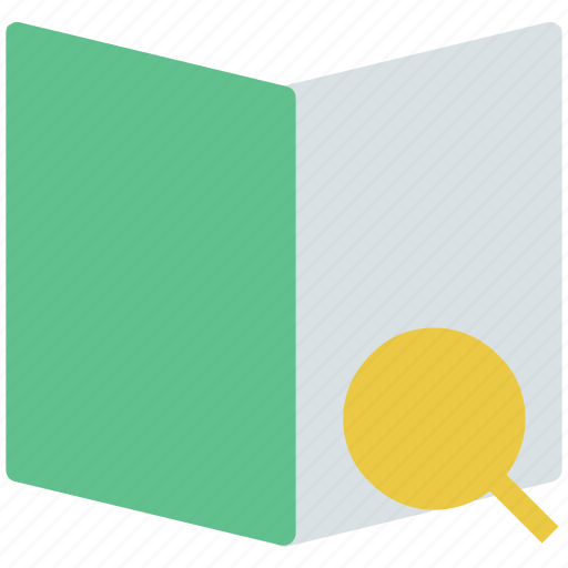 book, education, learning, magnifier, reading, searching icon