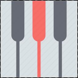 music, music instrument, piano, piano key, piano keyboard, piano part icon