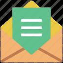 email, envelope, inbox, letter, mail, open envelope