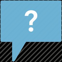 conversation question, faq, help button, question mark, speech bubble, unknown chat icon