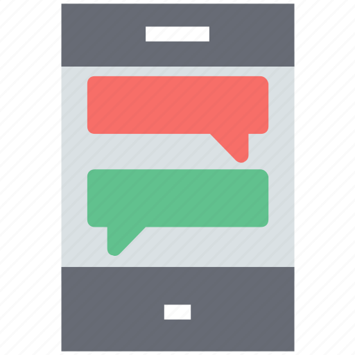 chatting, messaging, mobile, mobile chat, smartphone icon