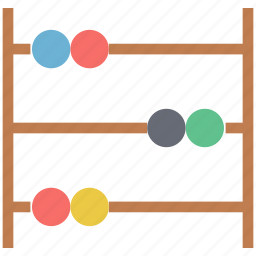abacus, ancient calculator, beads calculator, calculating machine, counting frame icon