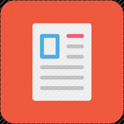 application, curriculum vitae, cv, letter, resume icon