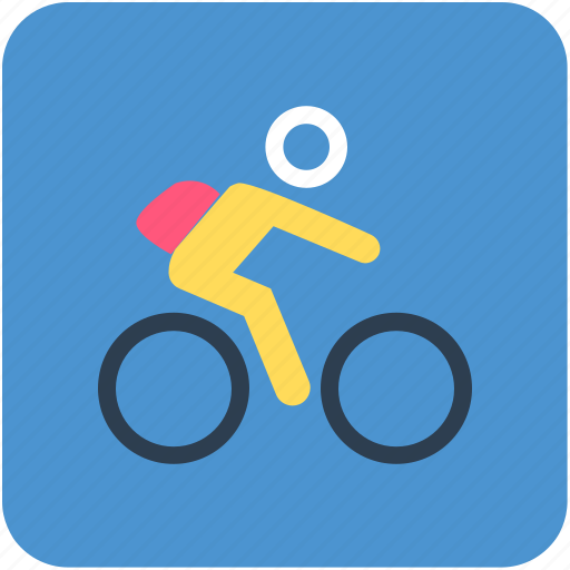 cyclist, going to school, school going, student icon